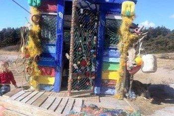 Søppelhytta på Hvaler (Arkivfoto)