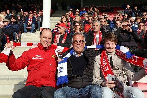 FORBRØDRING: Under det forrige cupmøtet mellom FFK og SDarpsborg 08 i 2016 var det frorbrødring på tribunen.