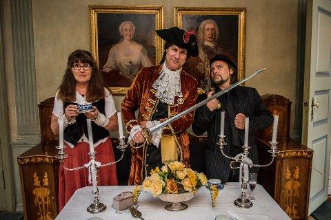 Forfatter Anne Lene Lie, Peter Tordenskiold for anledningen Kyrre Sæther og fotograf Per Heimly.