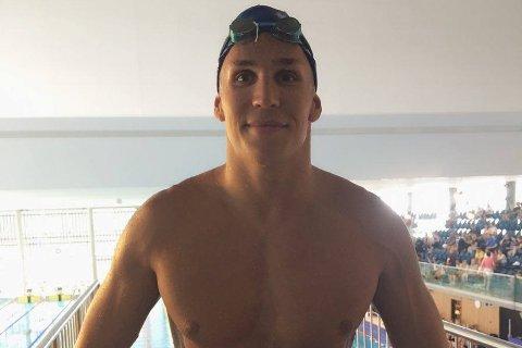 Finaleklar: Martin Hammer svømmer NM-finale på 50 meter butterfly fredag kveld.