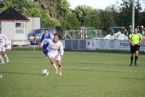 Fatos Berisha scoret to mål mot Follo 2 tirsdag kveld.