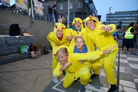 Pikachu-gjengen klare for kamp!
