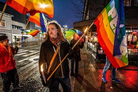 Fredsmarsjen i jauar 2017 med Jan-Kåre Fjeld i spissen skal gå om Lislebyveien førstkommende onsdag.