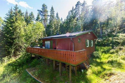 Denne hytta i Skiptvedt er den billigste fritidsboligen som ligger ute for salg i Østfold. Den kan bli din for 380.000 kroner.