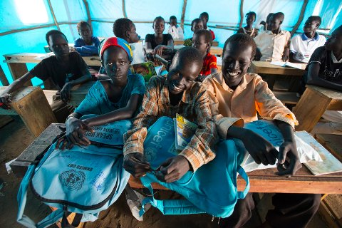 UNICEF skal bruke inntektene fra TV-aksjonen til å gi barn i konfliktland utdanning. Her fra Sør-Sudan.