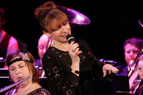 I storform: Heidi Gjermundsen Broch var hovedattraksjon under konserten.