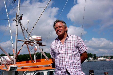 Makrellfisker: Per Arne Johansen, som har kaiplass ved Vaterland, har vært yrkesfisker siden 1970. (Arkivfoto: Øivind Lågbu)