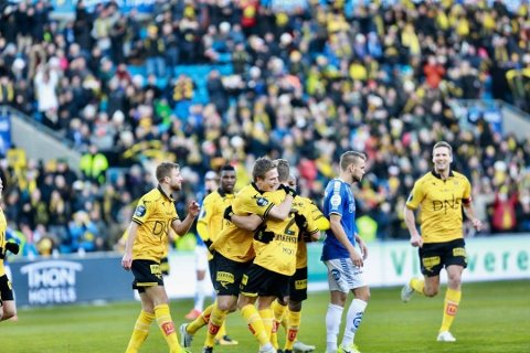 JUbel: Simen Rafn og Lillestrøm kunne juble for cupgull søndag. (Foto: Romerikes Blad)