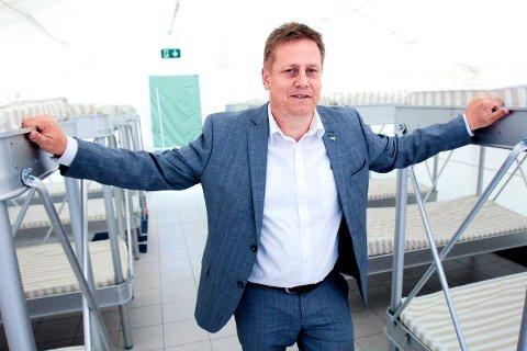 René Rafshol er leder av Østfold Høyre og leder en delegasjon på 17 medlemmer fra fylket.