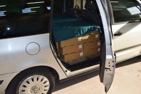 Den russiske smugleren ble stanset med 556 kilo oksekjøtt på grensa mellom Sverige og Norge.