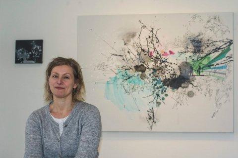 Åpner lørdag: Hege Liseth stiller ut 36 verk frem til 7 mai i kunstforeningen.