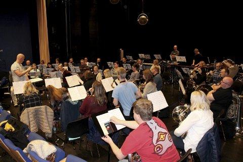 Øvelse: Bildet er tatt under øvelsen til Borge Musikkorps dagene før NM.                                                                          FOTO: MATHILDE HALSTENSEN