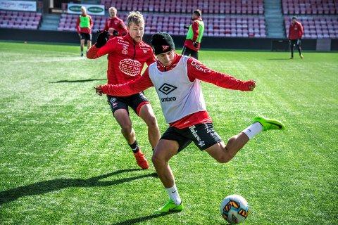 Skadefri: Ludvig Begby tilbake på trening. (Foto: Geir A. Carlsson)