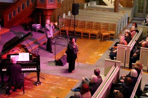 Tricia Boutté og hennes lille orkester åpnet Gamlebyen Jazzfestival 2017.