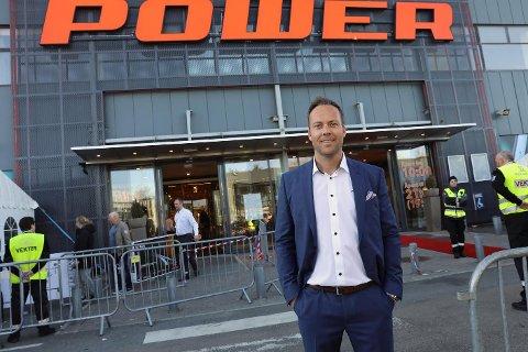 Administrerende direktør i Power, Anders Nilsen, gleder seg til åpning i Dikeveien på fredag.