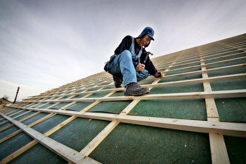 Gode tider: Det er stor optimisme i byggebransjen. Nipas har ansatt ti fagarbeidere det siste året og har en økning i omsetningen på drøyt 25 prosent i fjoråret