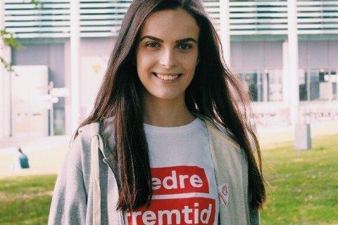 FÅR VIKTIG PLASS: Maria Dumitrascu Imrik, leder av Østfold AUF, kommer til å bli valgt inn i formannskapet sammen med partikollegene Jon-Ivar Nygård, Siri Martinsen, Atle Ottesen og Hege Dubec.