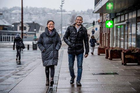 HÅPER PÅ NAPP: Oyuntsetseg Uzumchin (29) fra Kina og Ferand Abbas (29) fra Syria håper prosjektet «Hurtigsporet» skal ende med fast jobb.