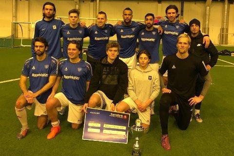 VINNERE: Fjellstrand vant Romjulscupen 2017 med et lag bestående av spillere fra Fredrikstad og Oslo, men som ikke tilhører klubben.