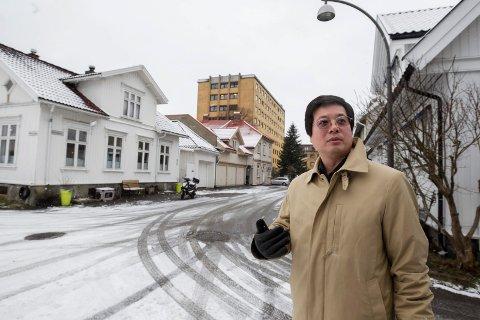 Vil ha byggestart: Kan Cao har kjøpt sykehuset  for 130 millioner kroner.  Nå sender han ut nabovarsel på Cicignon - i håp om å komme raskt i gang med nye leiligheter.