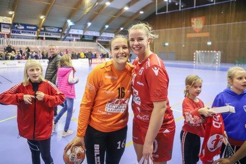 DE BESTE: Jenny Sandgren (til venstre) og Frida Kjuus Christiansen leverte varene mot Molde