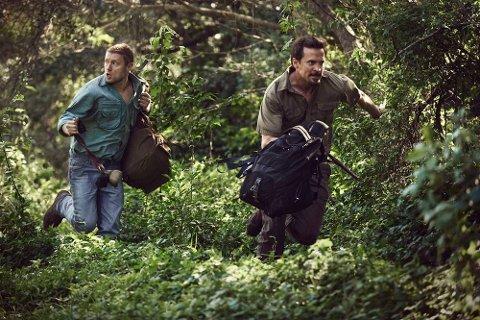 Høsten 2016 var Aksel Hennie og Tobias Santelmann i Fredrikstad for å forberede seg til rollene som  Joshua French og Tjostolv Moland i filmen «Mordene i Kongo».