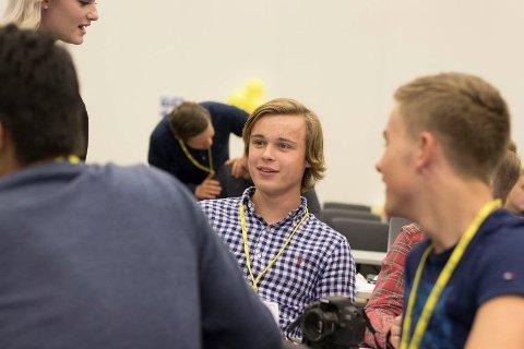 Herman Midtsjø er leder i Østfold KrFU.