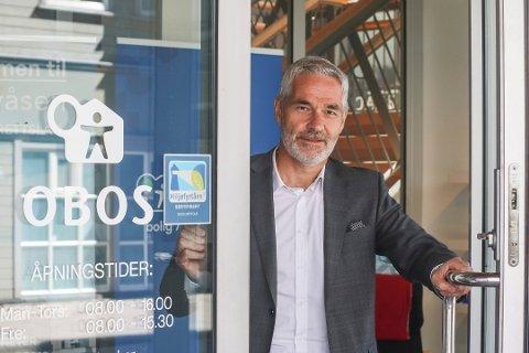 SER FRAMOVER: Etter et 2017 med gode økonomiske resultater, er regionsjef i OBOS, Steinar Frølandshagen, opptatt av å gi tilbake til Østfold.