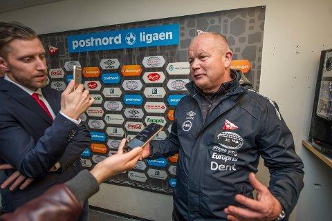 TILFREDS: Per-Mathias Høgmo var fornøyd med tre poeng i premieren. Foto: Geir A. Carlsson