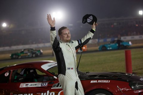Til topps: Ola Jæger vant årets første Formula Drift Pro 2-serie i Atlanta. (foto: Henrik Oulie)