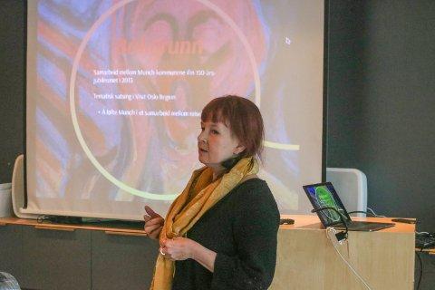 Redegjorde: I forrige møte i kulturutvalget fortalte prosjektleder Maya Nielsen om hvordan hele Oslofjordområdet samarbeider om å synliggjøre Edvard Munch.