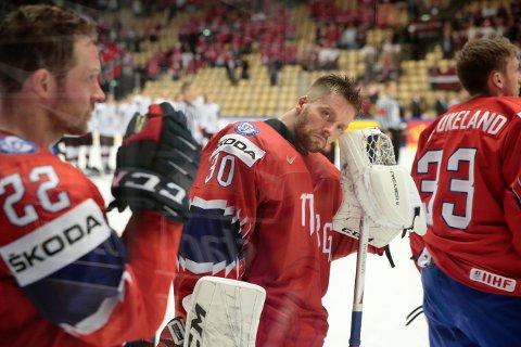 HAUGEN I BURET: Lars Haugen deppet etter tapet for Latvia i VM.