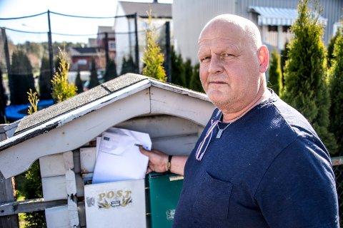 Kai Henning Jakobsen fikk tilsendt sykeepikrise til en annen person i posten.