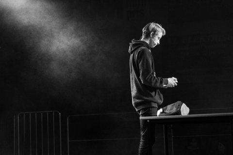 Christian Alsaker Henriksen stod på scenen under UKM-festivalen i Trondheim tirsdag kveld.