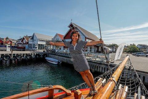 Hege K. Johannessen tilbringer mesteparten av sommeren sin på Engelsviken Brygge.