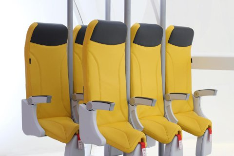 Slik kan man få plass til 20 prosent flere seter på et fly. (Aviointeriors)