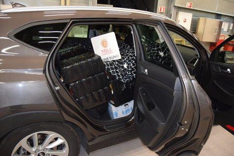 FULLASTET: Den polskregistrerte bilen var hadde nesten 700 liter øl om bord.