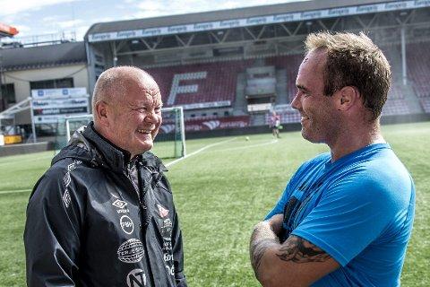 Spiller på lag: Det er mer enn dialekten Per-Mathias Høgmo og Kenneth har felles, de er begge en del av FFK.