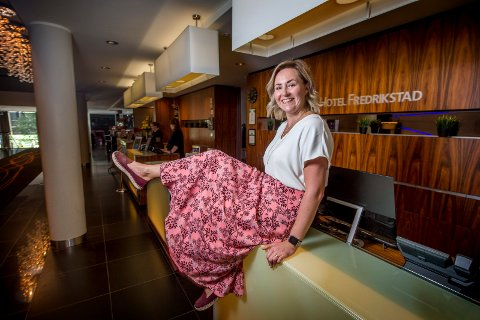 KLOKKETRO: Sabina Widenqvist har stor tro på hotellnæringen i Fredrikstad og mener veksteventyret så vidt har startet. – Scandics planer om utvidelse er udelt positivt for Fredrikstad, mener hun.