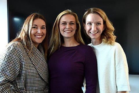 Engasjert trio: Siri Martinsen (f.v.), Cecilie Jonasen og Terese Troy Prebensen vil få flere kvinner inn i styrer og lederroller. Nå starter de et kvinnenettverk.