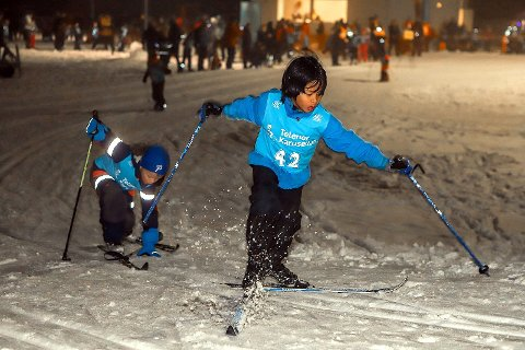 KLAR TIL DYST: Onsdag er det duket for avslutning for årets skoleskikarysellrenn i Fredrikstad Skiarena.