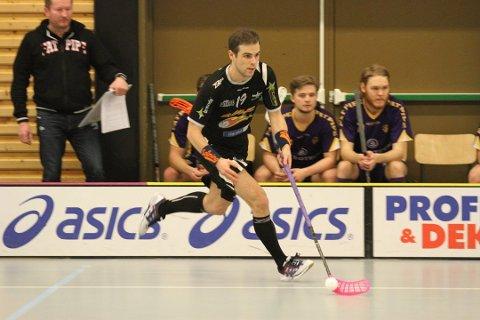 SWEDISH EXPRESS: Johan Åhlberg var delkatig i mandagens seier i Gressvikhallen.