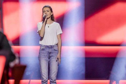 Gikk videre: Amalie Hamborgstrøm fikk tommel opp av mentor Martin Danielle i The Voice.