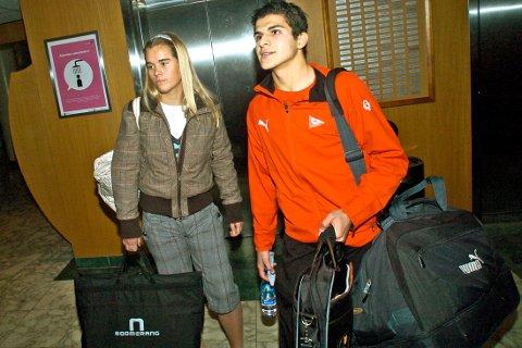 LANGT FORHOLD: Tarik  Elyounoussi har vært kjæreste med Hedda Vedeler Lassen siden ungdomstiden. Nå har paret fått en datter.  Her er de avbildet foran cupfinale på Ullevaal i 2006.