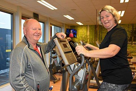 Glade friskuser: Kai Ståle Straumsnes (58) og Elisabeth Ek (52) har begge hatt stor glede av treningstilbudet Aktiv på dagtid.