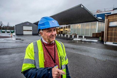 HØY AKTIVITET: Virksomhetsleder Knut Jostein Berglyd  i UDI er i gang med å klargjøre ankomstsenteret i Råde til å kunne ta imot 1.000 asylsøkere og ha over 200 ansatte.