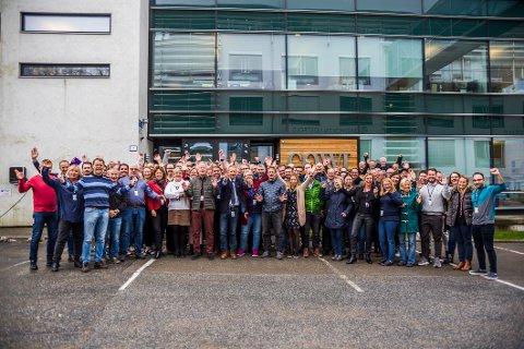 STOR GJENG: Det jobber nå 220 medarbeidere ved Cowi Fredrikstad og i løpet av to-tre år regner de med å være over 250 ansatte.