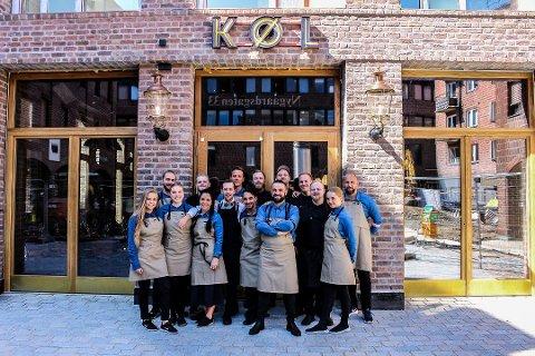 En del av Køl-staben fotografert like før åpning i slutten av juli i fjor. De fem påfølgende månedene gikk svært så bra for restauranten.