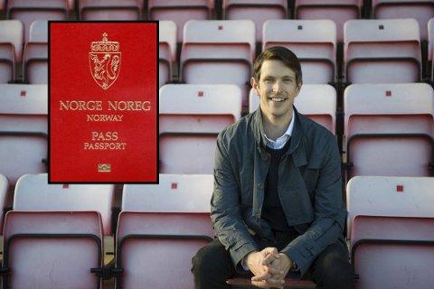 I passtrøbbel: Svend Anders Karlsen-Moum skal til England med familien i påsken. Nå skaper passkøene hodebry for 35-åringen.