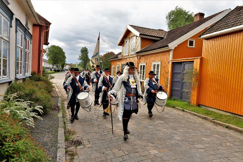 Kong Frederik IVs Tambourafdeling af 1704 er et kjent innslag på blant annet 17. mai. Her fra Vaterland i fjor.